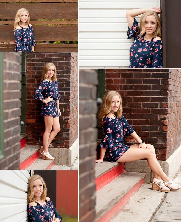 Beautiful senior girl session in Kansas City, Missouri.
