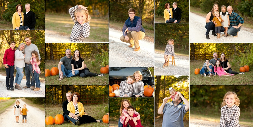 Columbia MO photographer with sessions on a gravel road and beautiful fall colors.